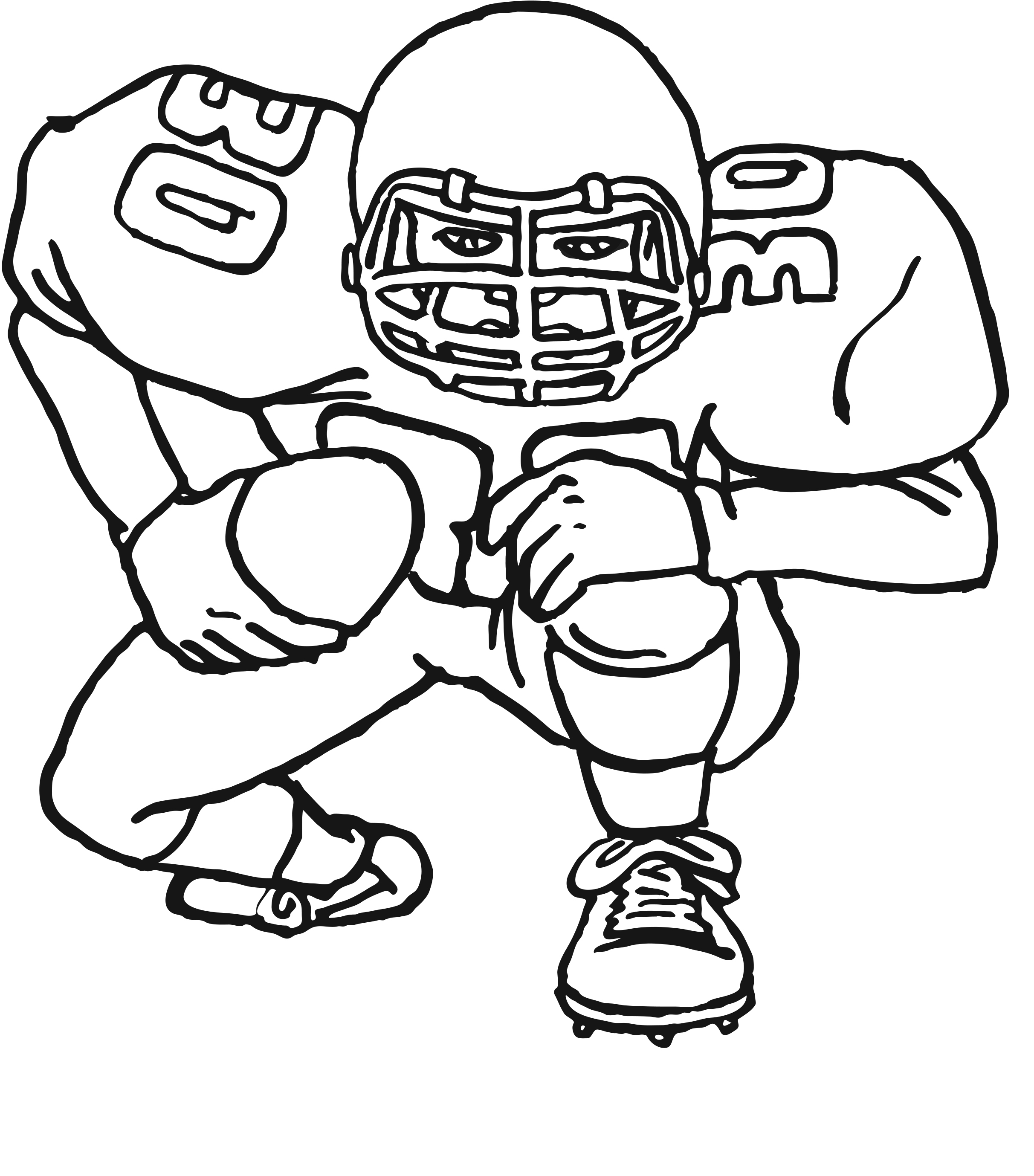 football pictures to colour free printable football coloring pages for kids cool2bkids colour to football pictures
