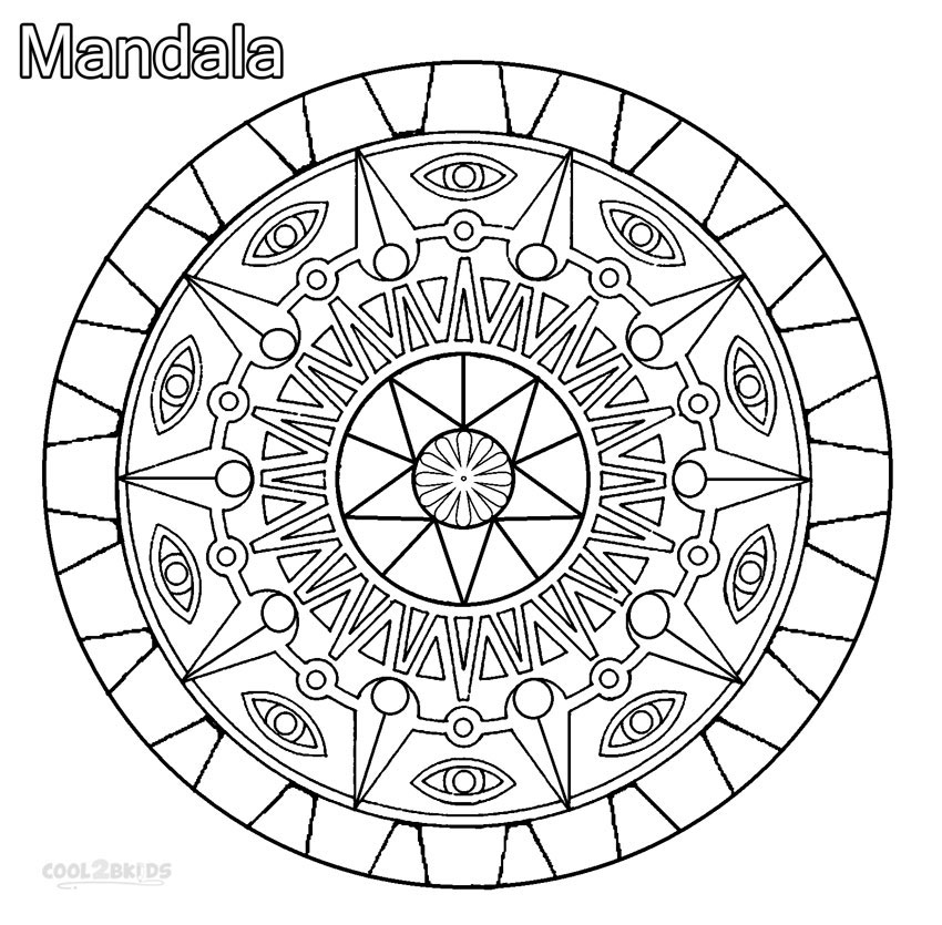 free mandala coloring pages for kids free printable mandalas for kids  best coloring pages for mandala kids pages for coloring free
