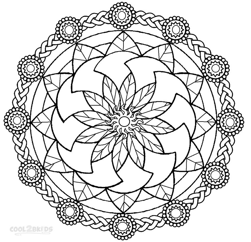 free mandala coloring pages for kids mandala from free coloring books for adults 6  mandalas for mandala kids coloring free pages