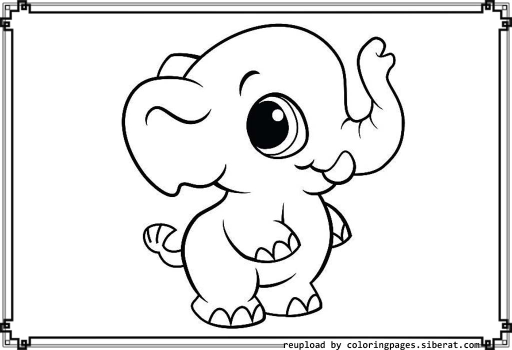 free printable elephant coloring pages baby elephant coloring pages animal elephant free coloring printable pages