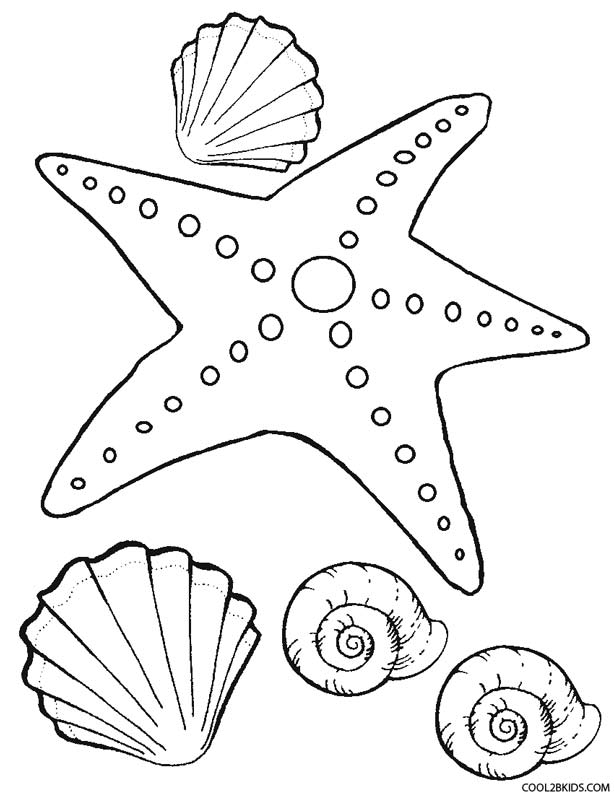 free starfish coloring page free printable starfish coloring pages for kids free coloring starfish page