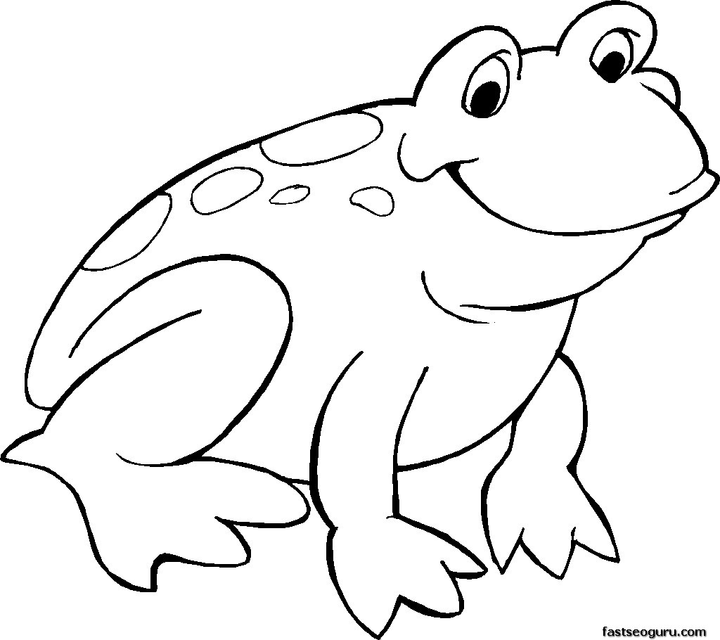 frogs to color for free free printable smiling frog coloring page printable to frogs color for free