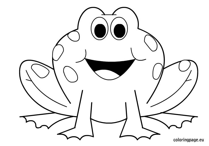 frogs to color for free frog coloring page coloring page for color to frogs free