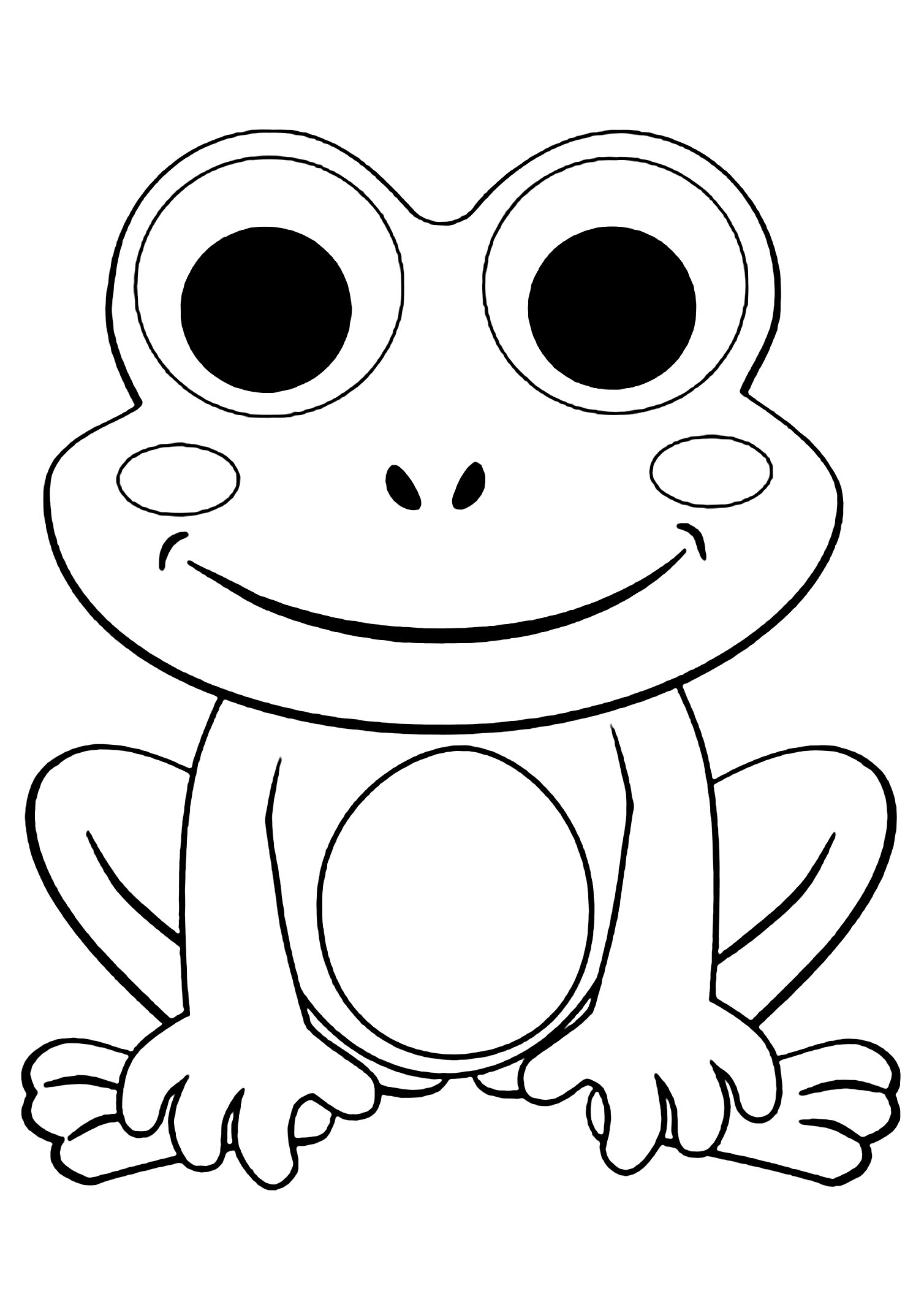 frogs to color for free print download frog coloring pages theme for kids for color frogs free to