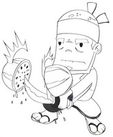 fruit ninja coloring pages fruit ninja coloring pages download free printable pages coloring ninja fruit