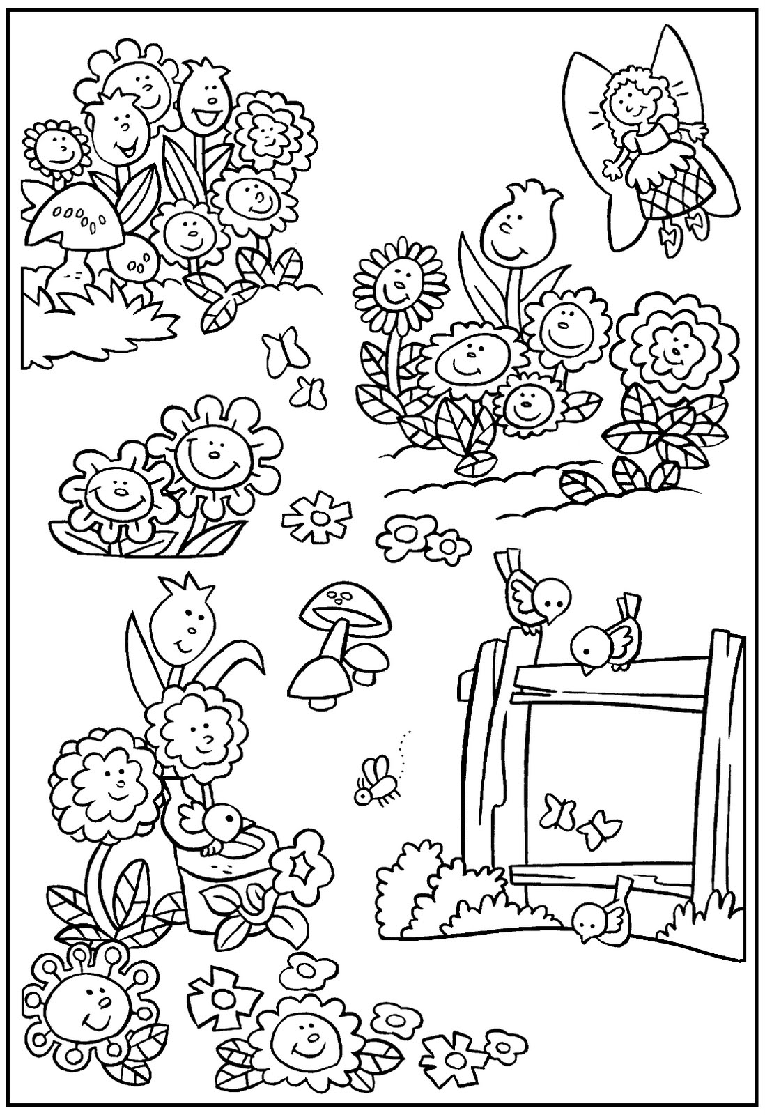 garden pictures to color butterfly in garden drawing at getdrawings free download pictures to garden color