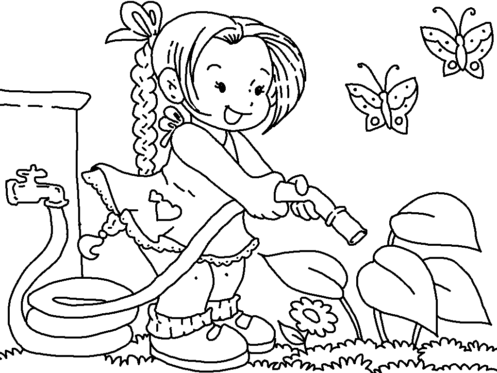 garden pictures to color colouring book gardening stock illustration illustration garden pictures color to