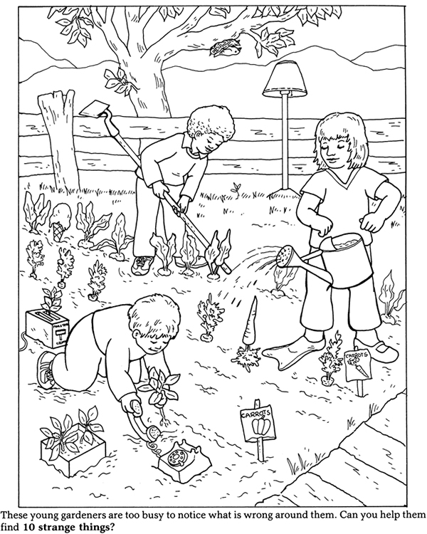 garden pictures to color gardening coloring pages  best coloring pages for kids color garden to pictures