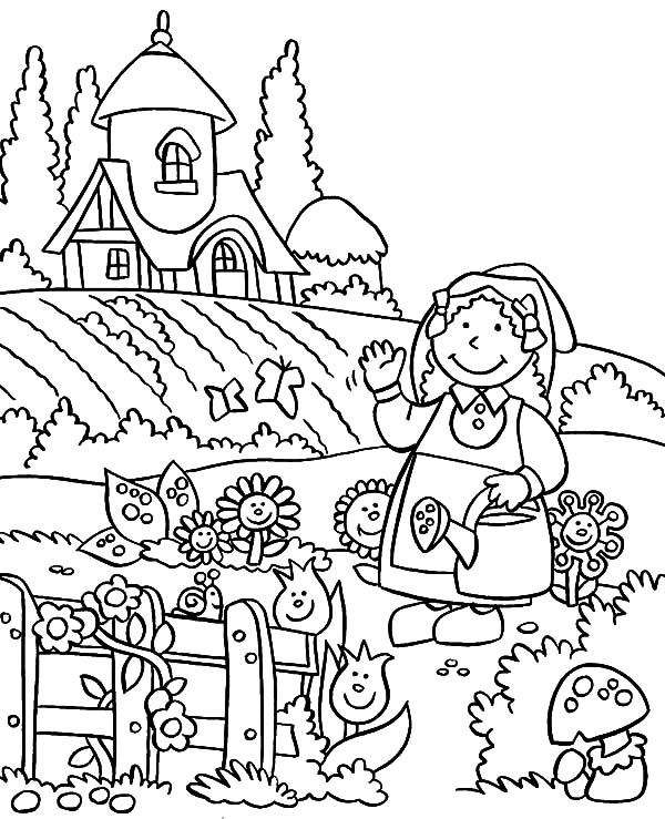 garden pictures to color gardening coloring pages to download and print for free to color pictures garden
