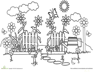 garden pictures to color inkspired musings it39s hard to be green color garden pictures to