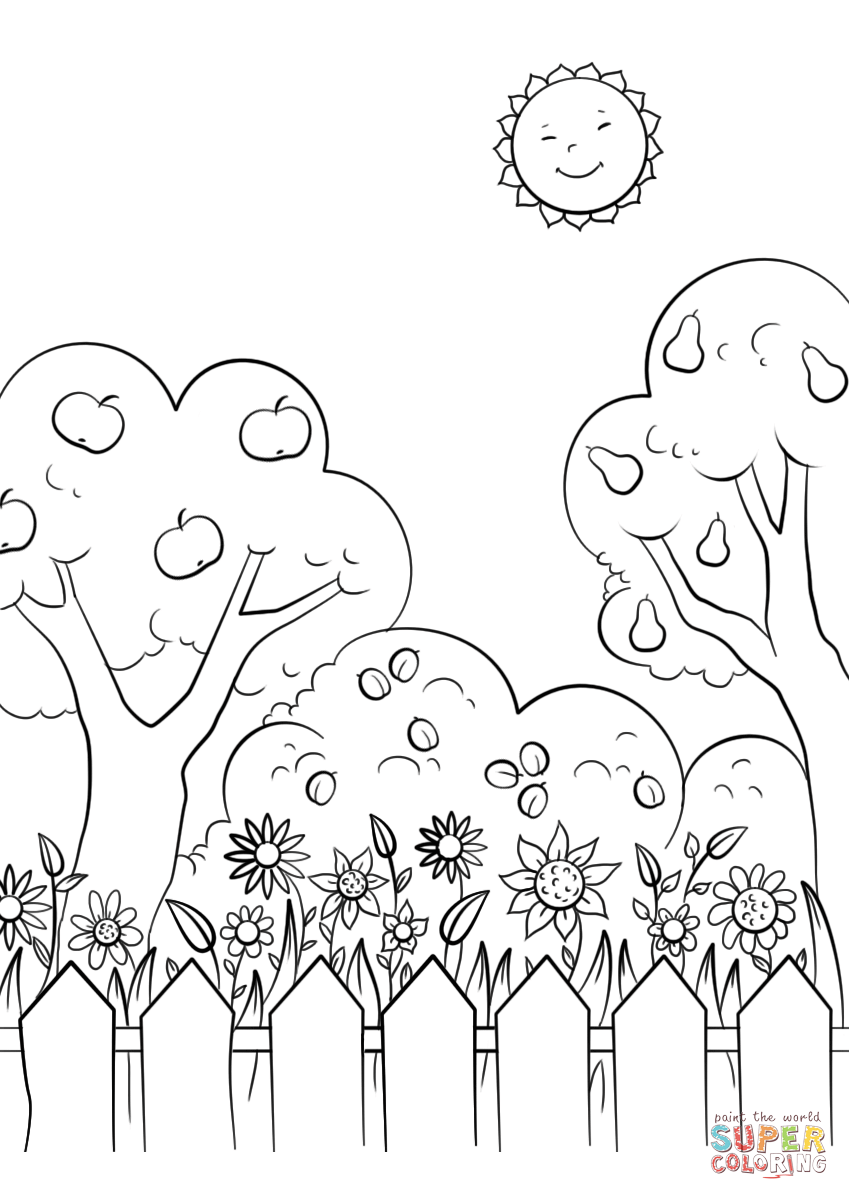 garden pictures to color kids gardening coloring pages free colouring pictures to print to pictures color garden