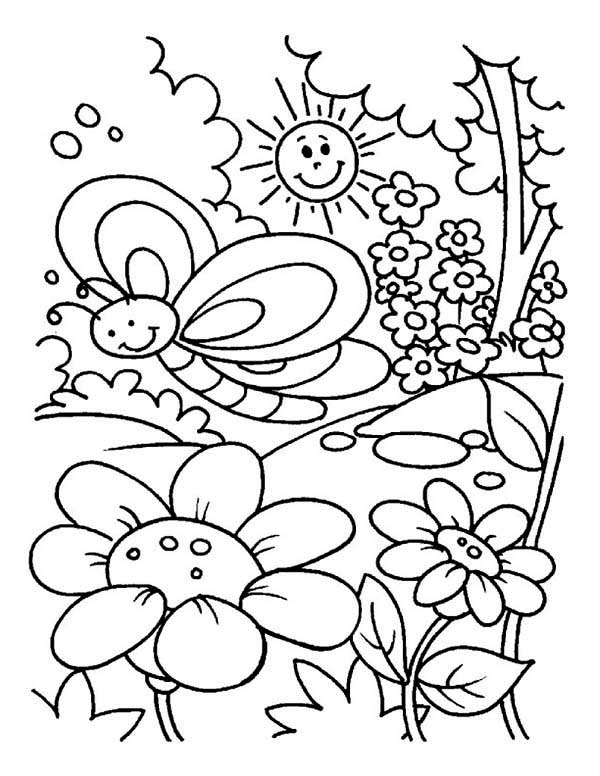 garden pictures to color my little house anna and the flower garden coloring pages color to garden pictures