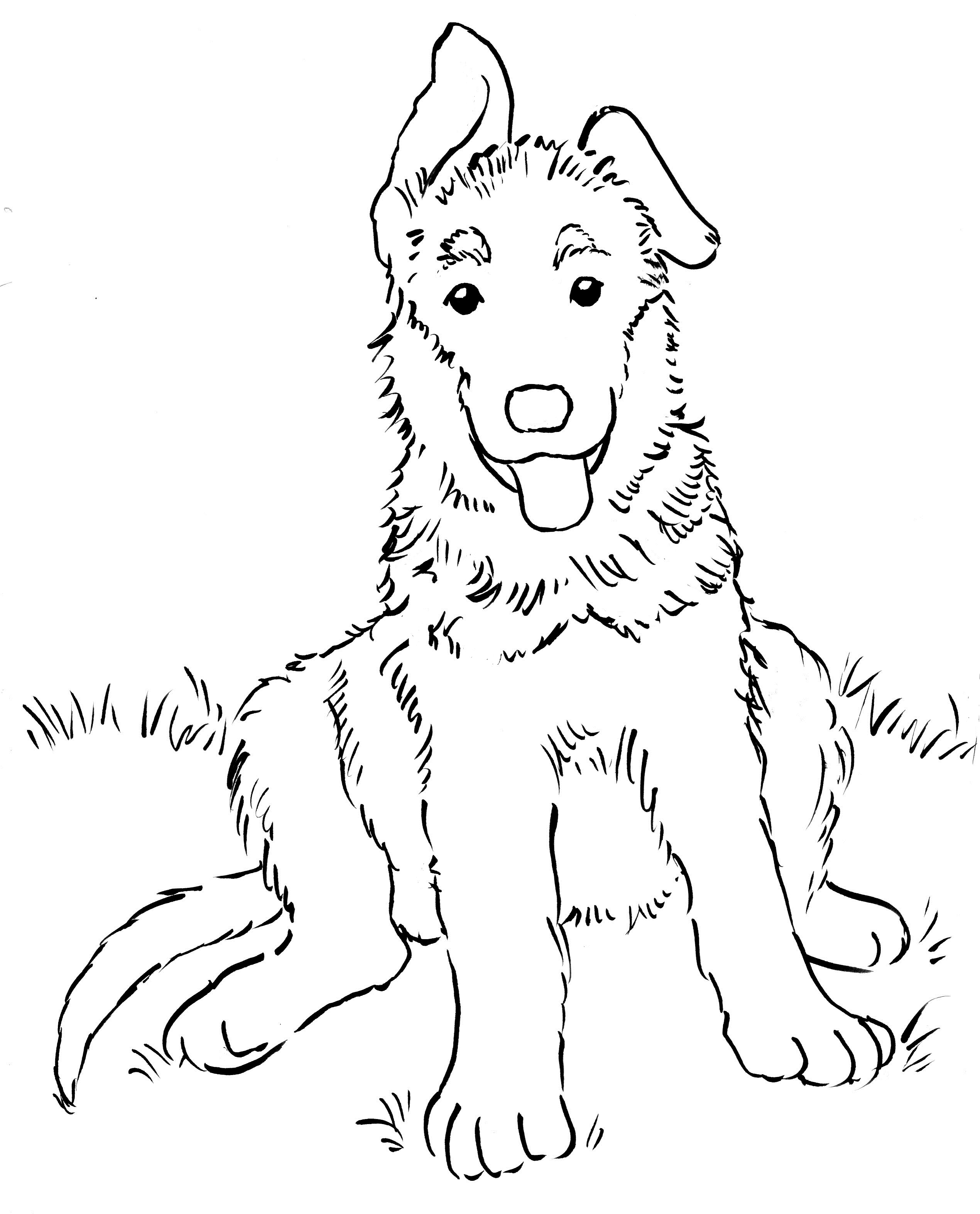 german shepherd puppy coloring pages dog breed coloring pages shepherd pages puppy german coloring