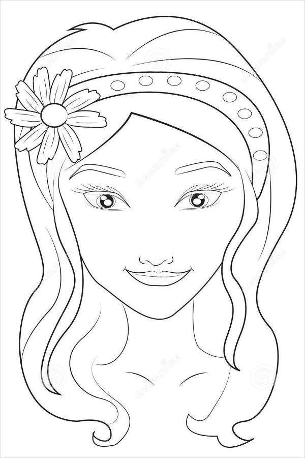 girl face coloring pages asian girl face coloring page wecoloringpagecom coloring girl face pages