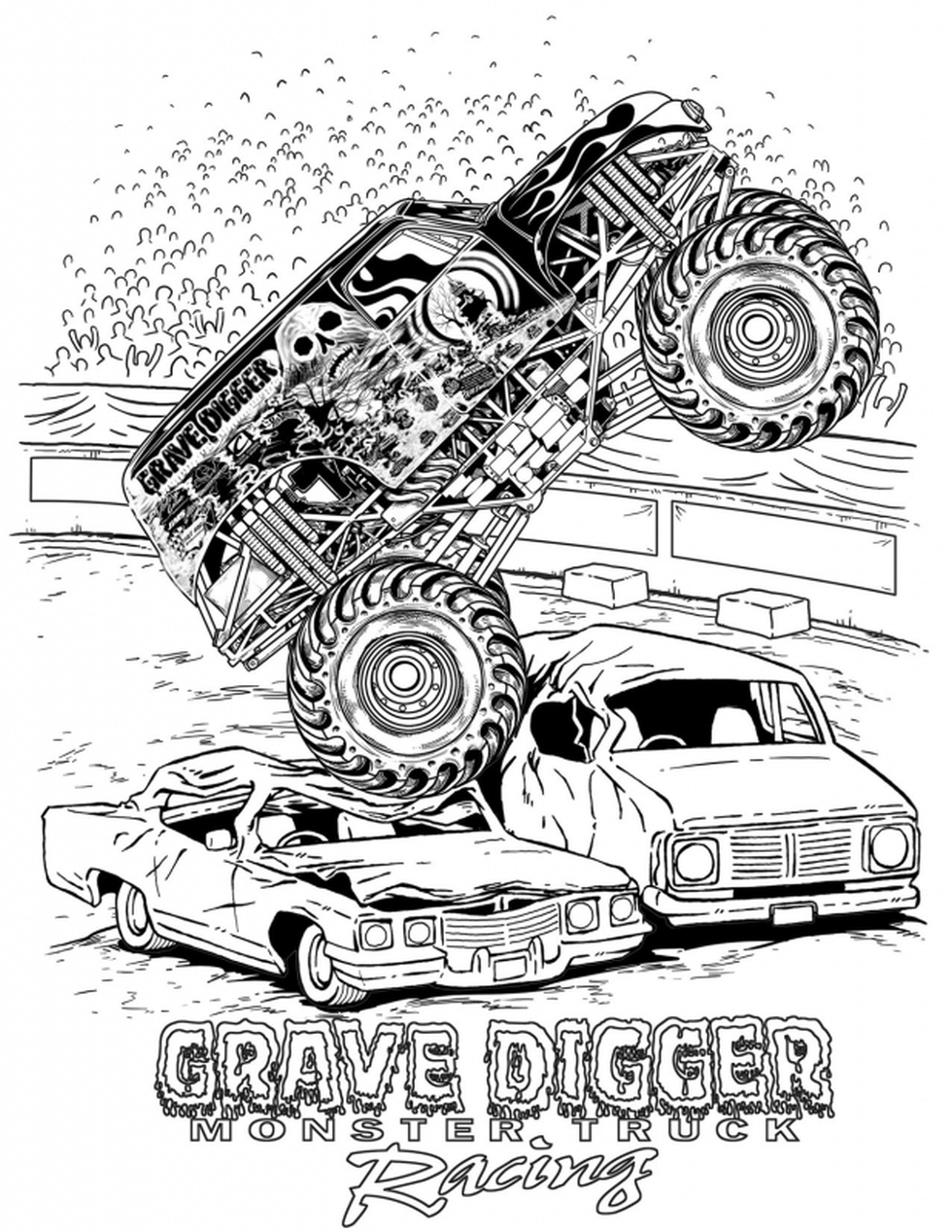 grave digger monster truck coloring pages grave digger monster truck coloring page free printable truck pages digger coloring monster grave