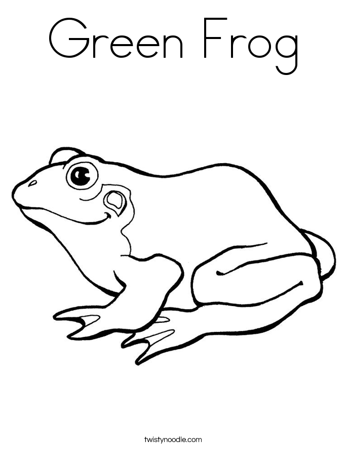 green frog coloring page green tree frog drawing at getdrawings free download coloring page frog green