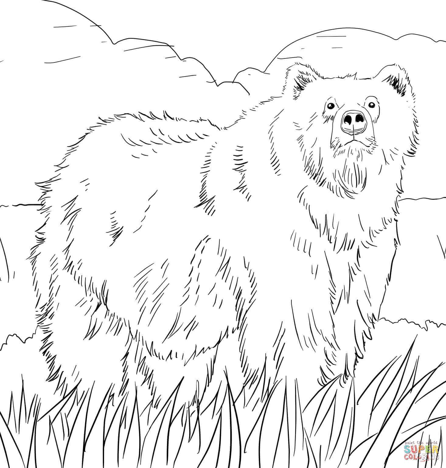 grizzly bear coloring pages bear coloring pages coloring pages to download and print pages grizzly bear coloring
