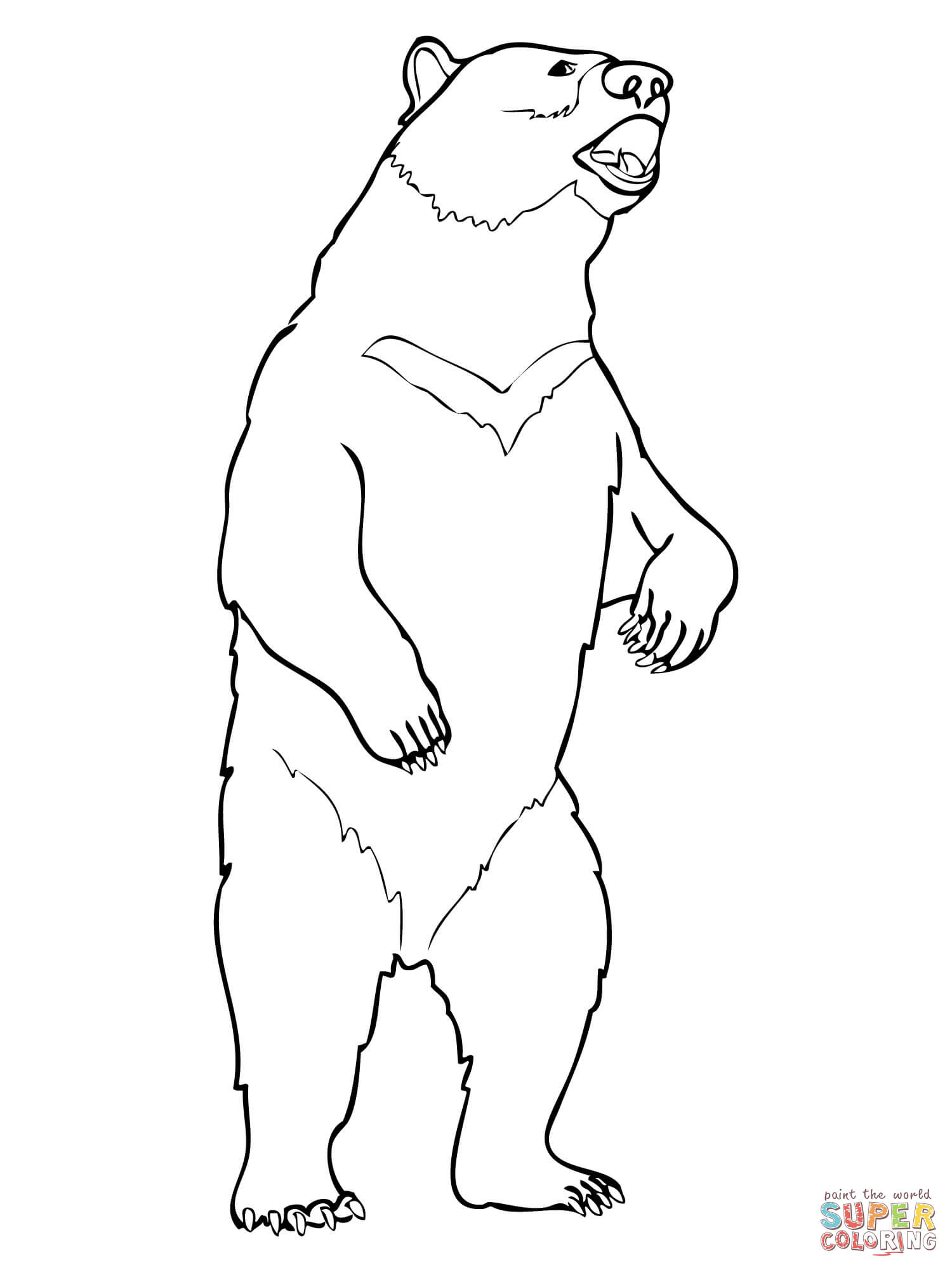 grizzly bear outline california bear clipart free download on clipartmag outline grizzly bear