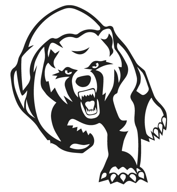 grizzly bear outline grizzly bear mascot head stock illustrations royalty grizzly outline bear
