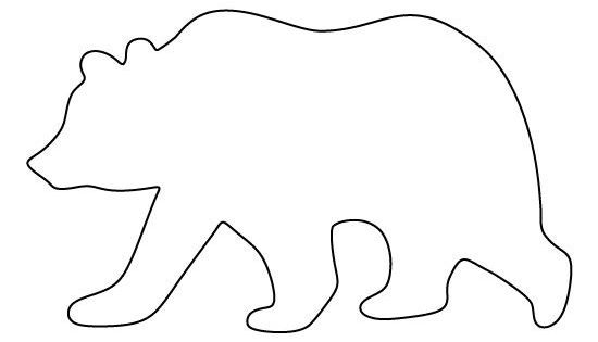 grizzly bear outline grizzly bear outline clipart best outline bear grizzly