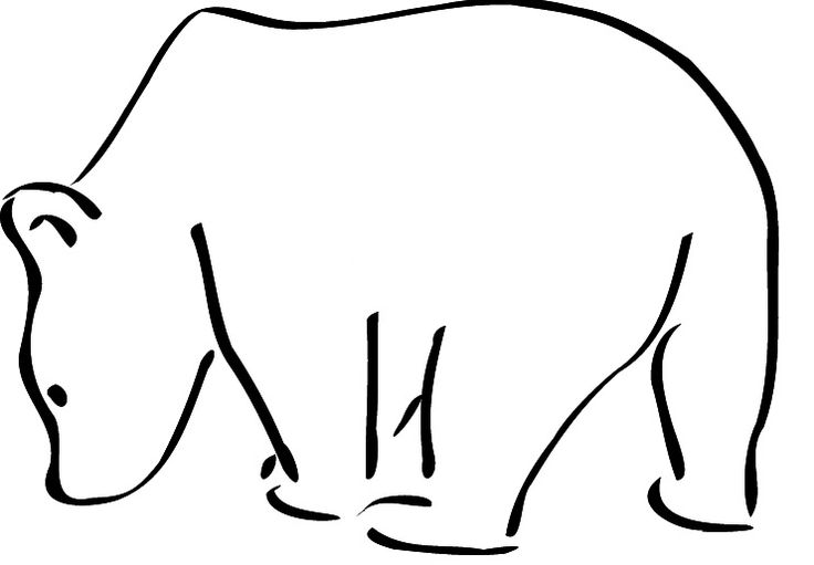 grizzly bear outline grizzly bear outline clipart best outline bear grizzly 1 1