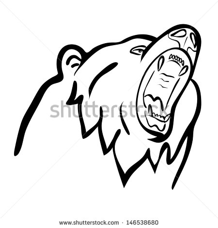 grizzly bear outline grizzly bear outline grizzly outline bear