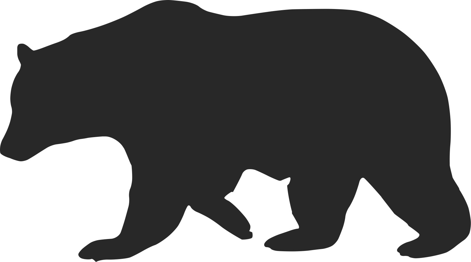 grizzly bear outline grizzly this grizzly has rather a dark outline it was outline bear grizzly