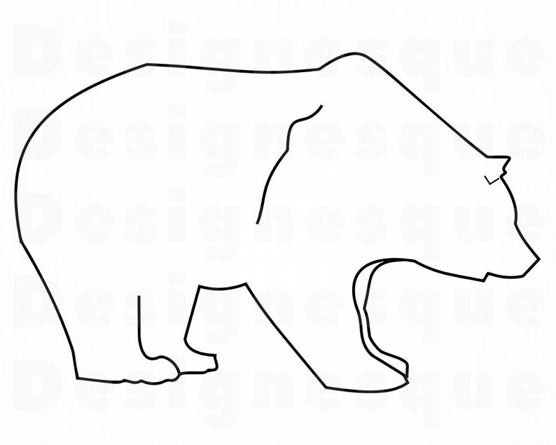 grizzly bear outline how to draw grizzly bear step by step drawing tutorials bear grizzly outline