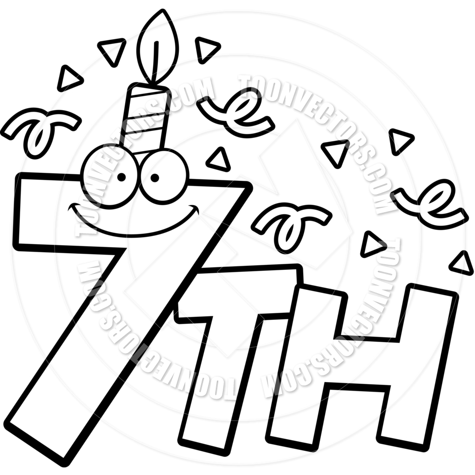 happy 7th birthday coloring pages happy 7th birthday coloring pages coloring pages coloring 7th pages birthday happy