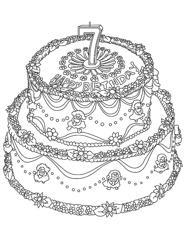 happy 7th birthday coloring pages happy 7th birthday coloring sheet coloring pages pages coloring birthday happy 7th
