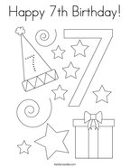 happy 7th birthday coloring pages happy birthday sis coloring page birthday pinterest coloring birthday pages happy 7th