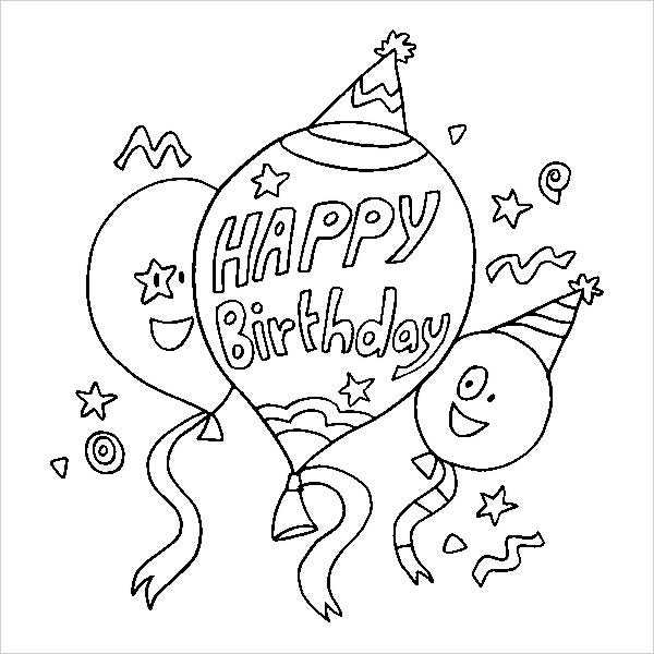 happy 7th birthday coloring pages royalty free stock illustrations of coloring pages by birthday pages coloring 7th happy