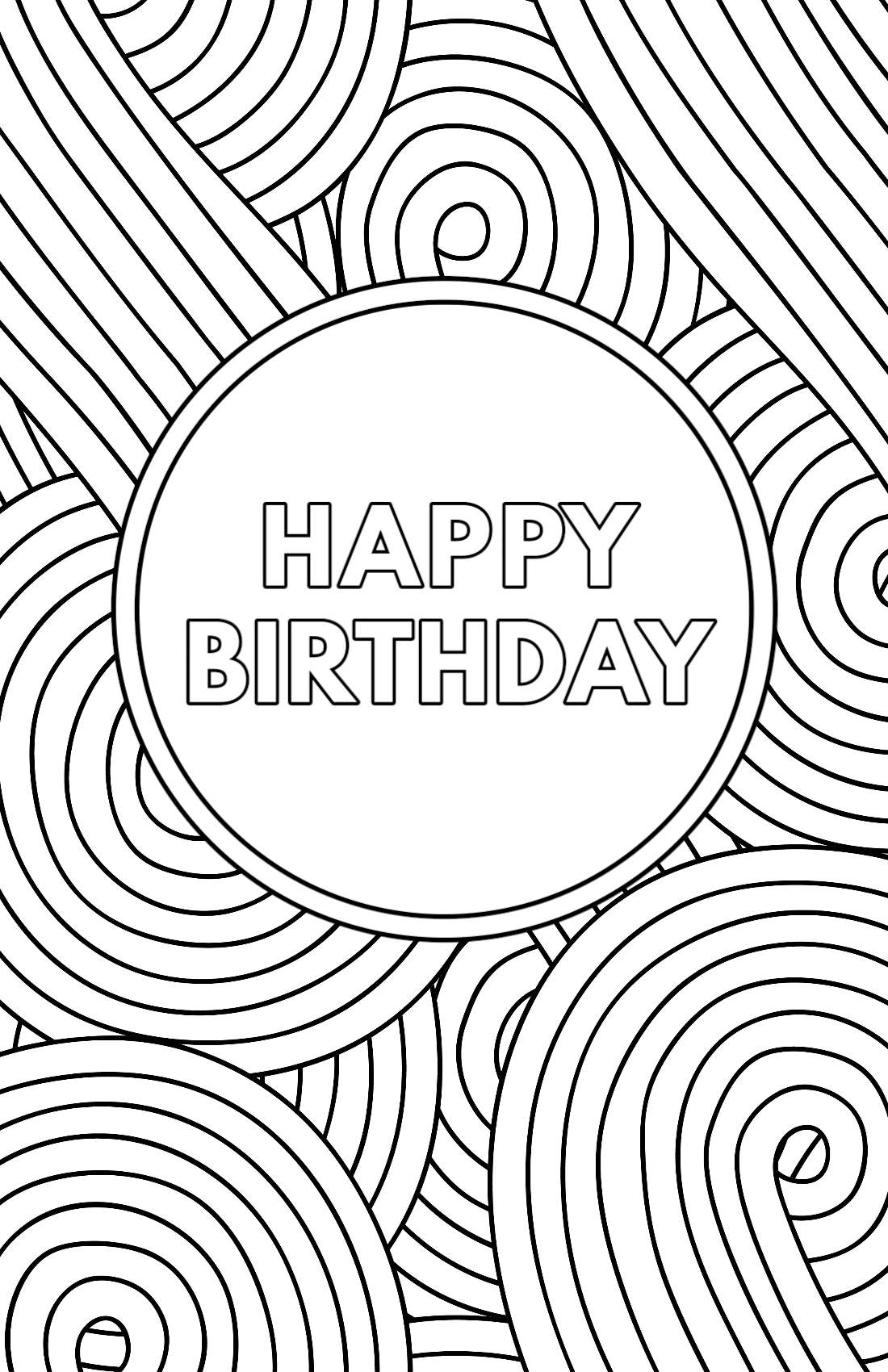 happy birthday coloring card 50 gorgeous coloring birthday cards kittybabylovecom birthday card happy coloring