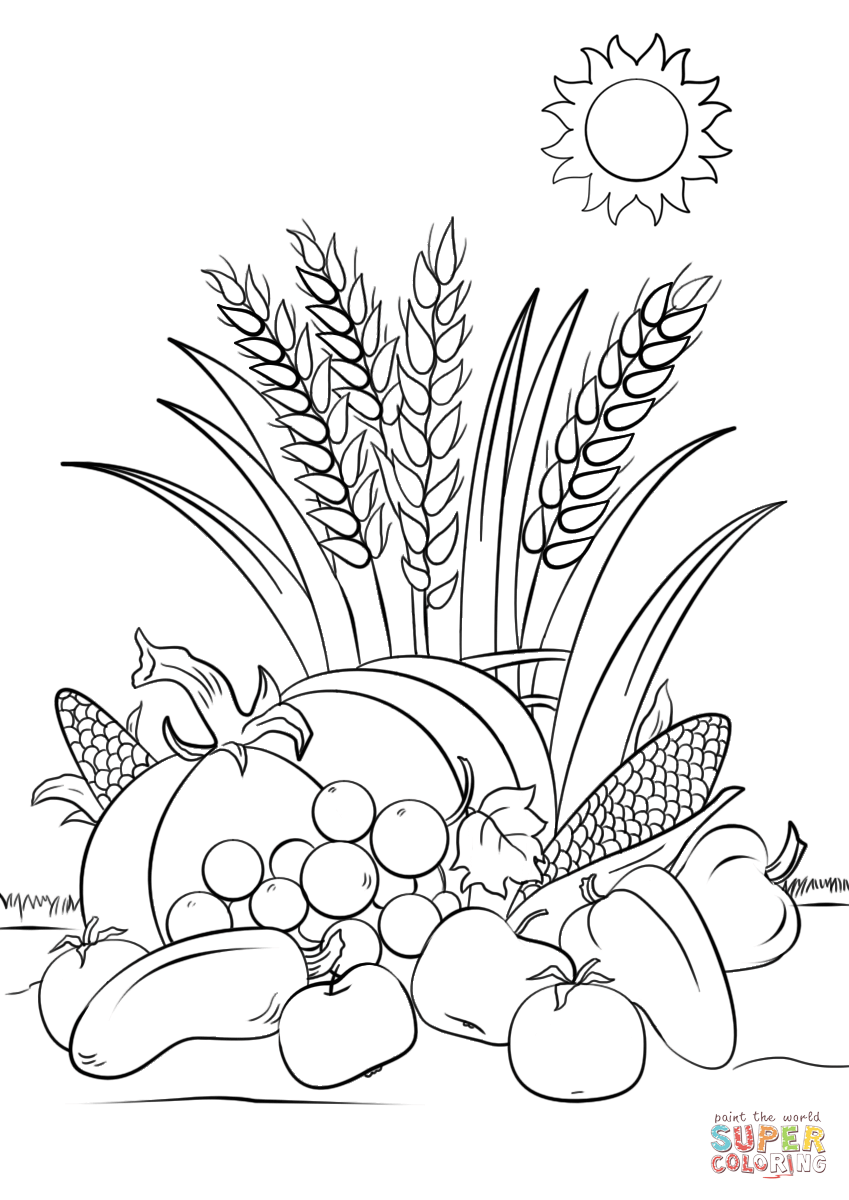 harvest coloring page autumn harvest coloring page free printable coloring pages harvest page coloring
