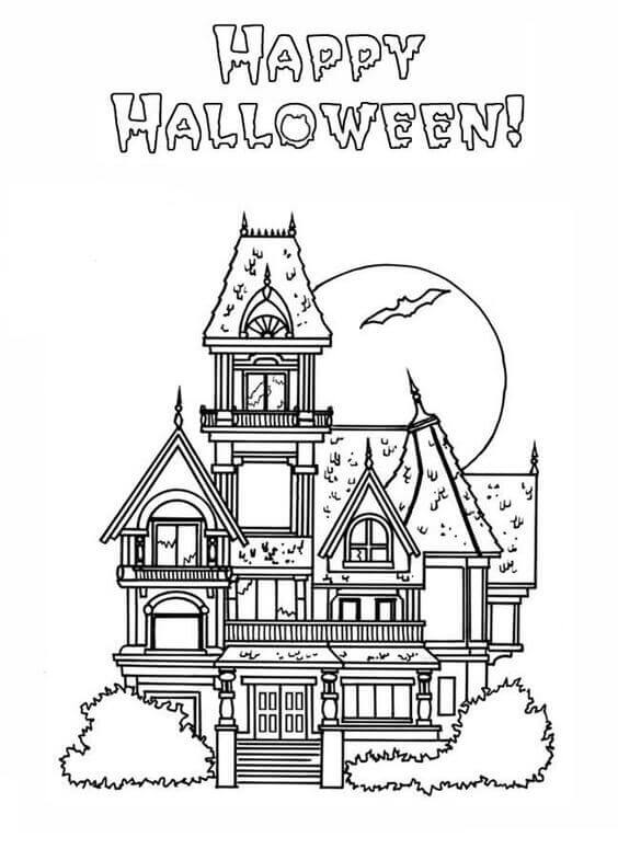 haunted house coloring free printable haunted house coloring pages for kids house haunted coloring