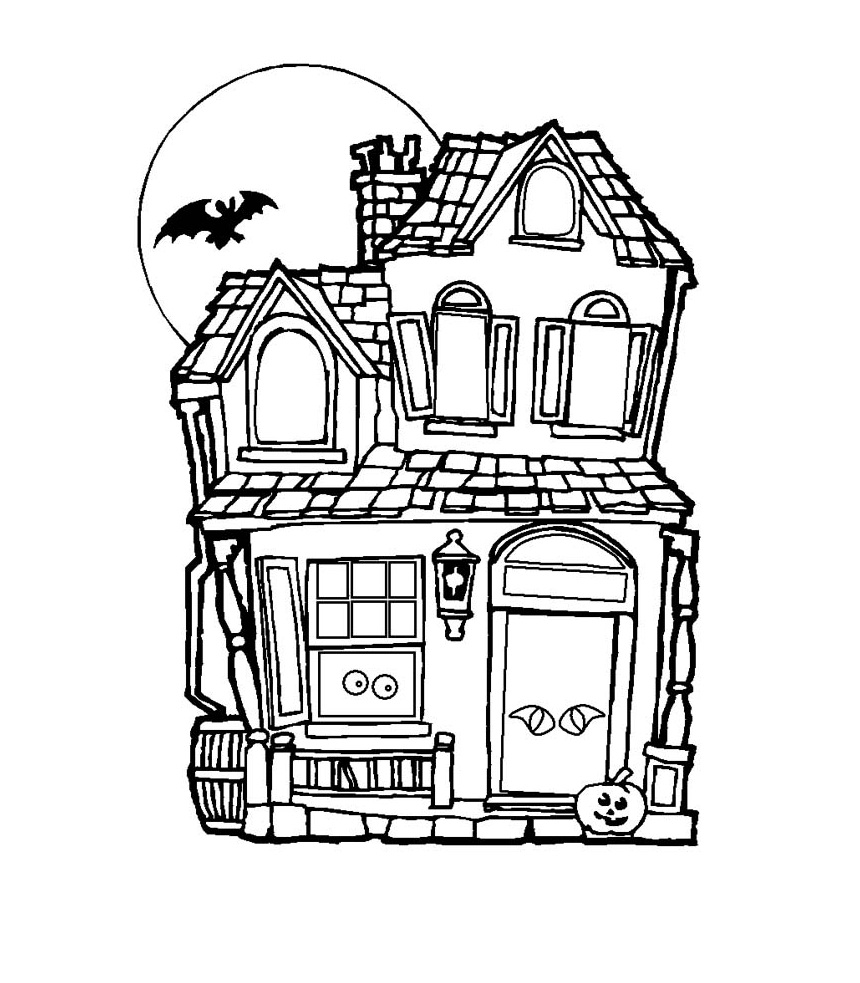 haunted house coloring haunted house printables coloring house haunted
