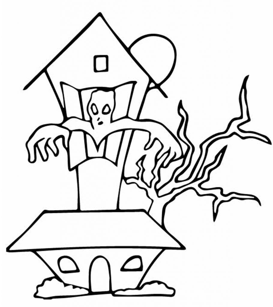 haunted house coloring pages printables free printable haunted house coloring pages for kids haunted pages printables coloring house
