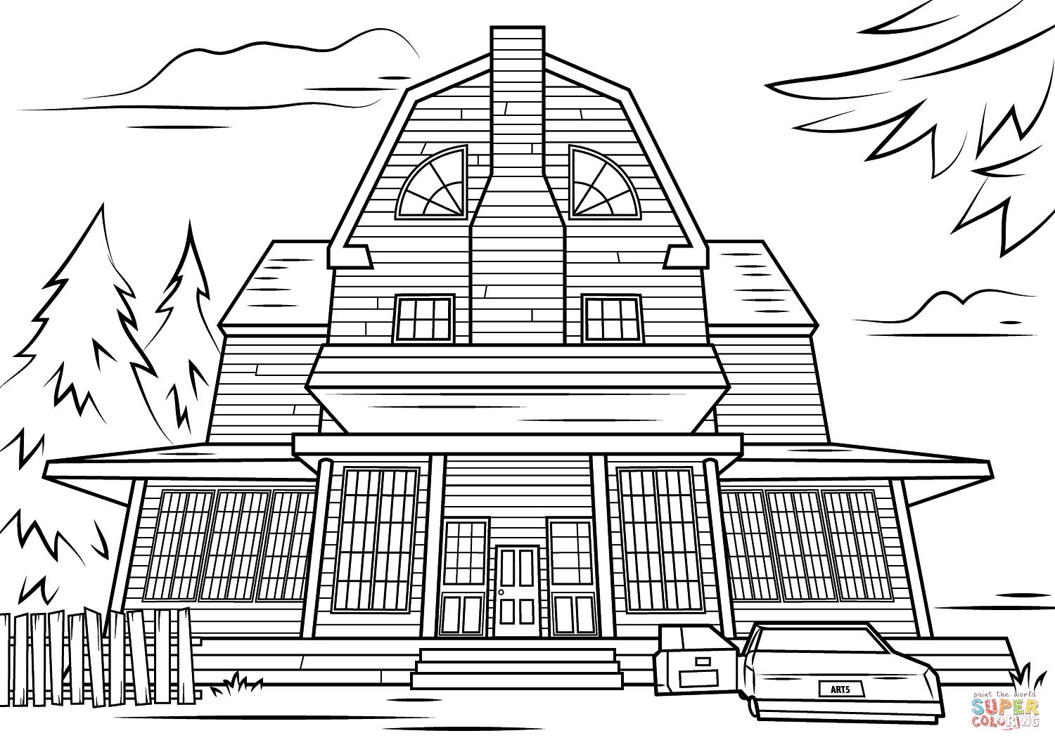 haunted house coloring pages printables haunted house coloring page free printable coloring pages pages house coloring printables haunted