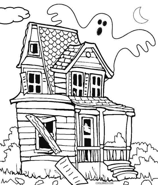 haunted house coloring printable haunted house coloring pages for kids cool2bkids haunted house coloring