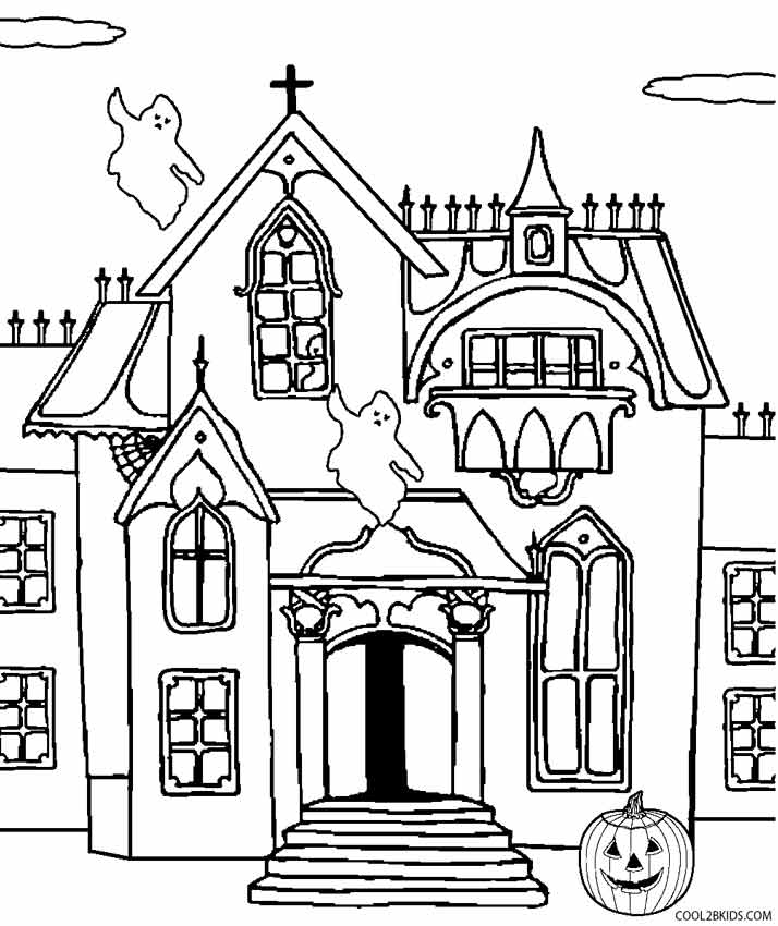haunted house coloring printable haunted house coloring pages for kids cool2bkids house coloring haunted