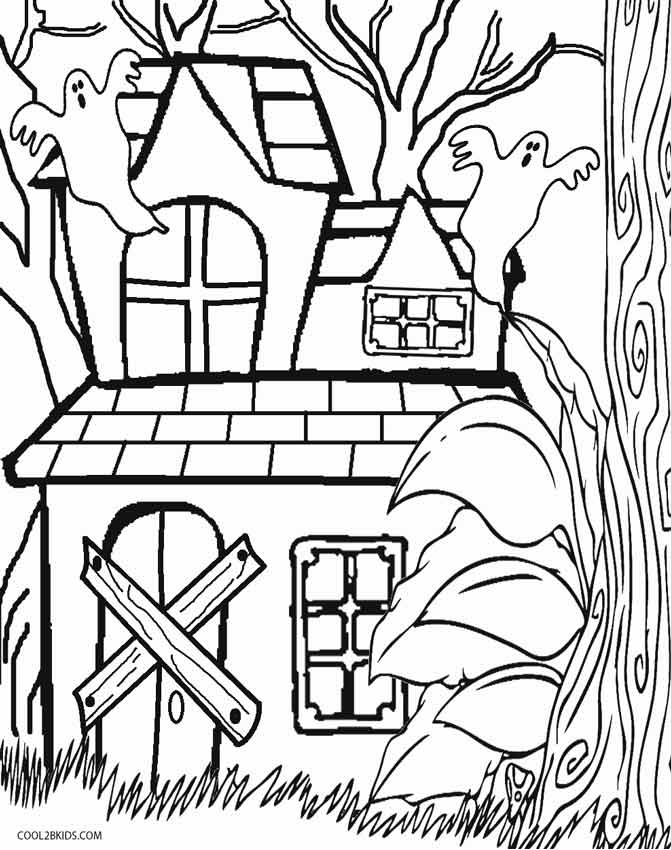 haunted house to color free printable haunted house coloring pages for kids haunted to house color