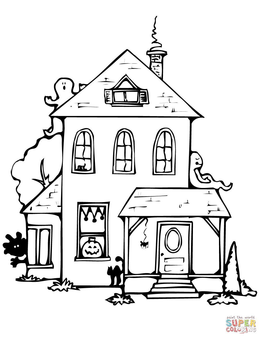 haunted house to color free printable haunted house coloring pages for kids house to haunted color