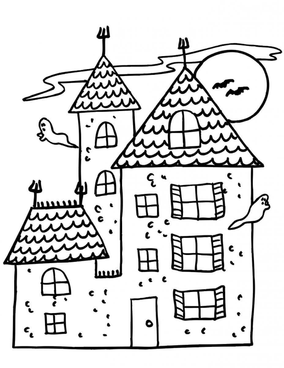 haunted house to color haunted house coloring pages coloring pages to download haunted to house color