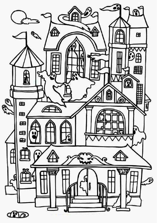 haunted house to color printable haunted house coloring page haunted house color to