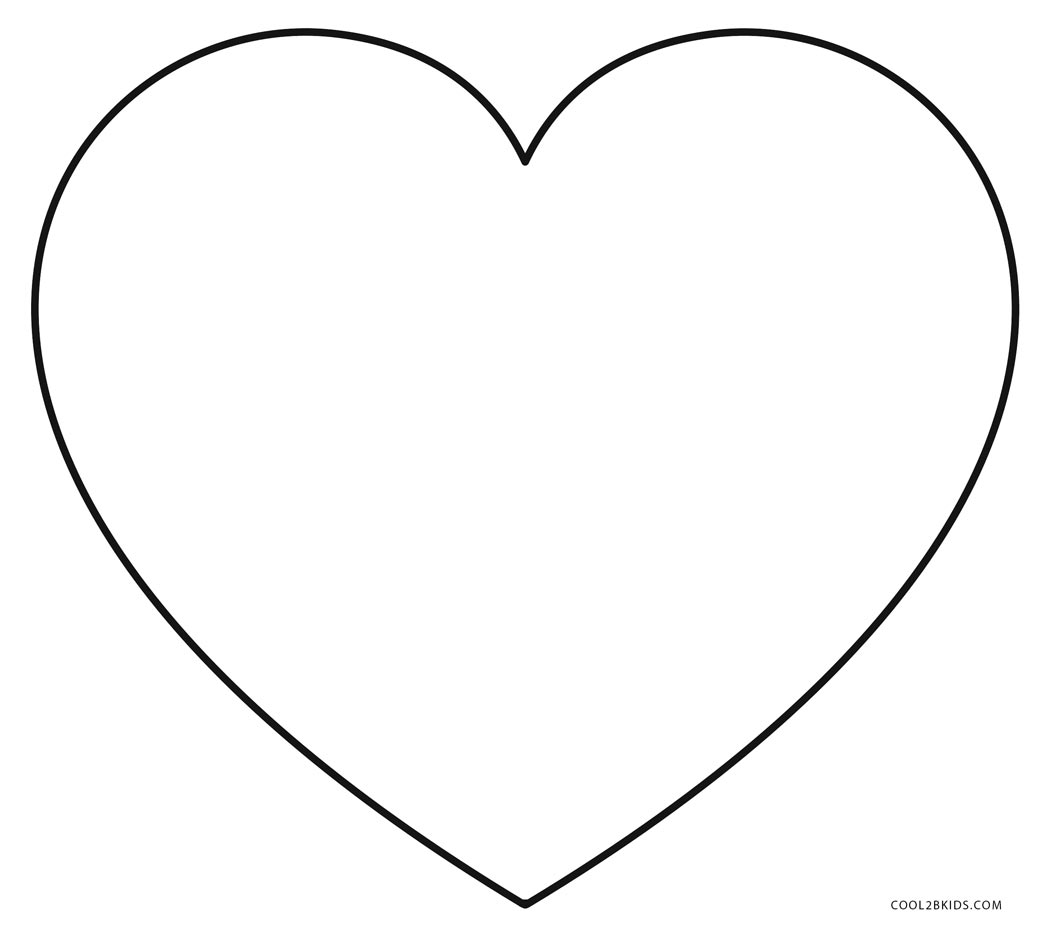 heart picture to color free printable heart coloring pages for kids to heart picture color