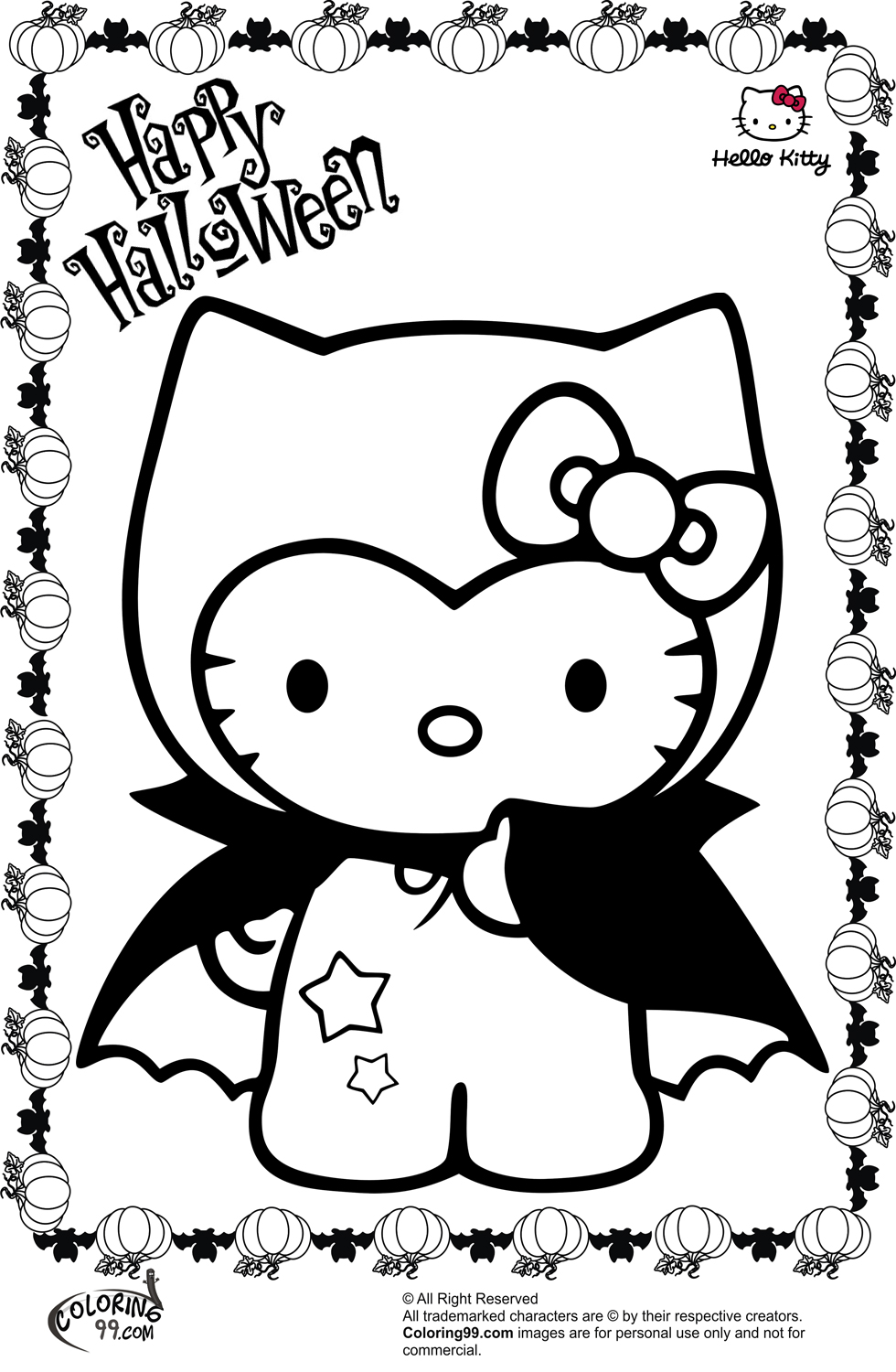 hello kitty halloween coloring pages october 2013 team colors kitty coloring pages hello halloween