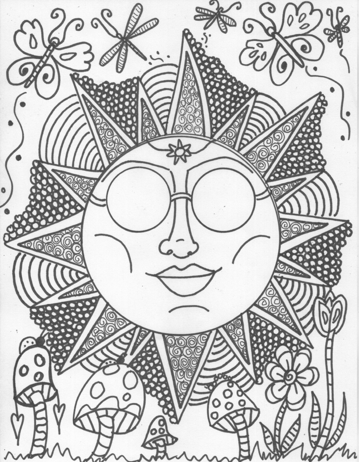 hippie coloring pages cool hippie coloring pages coloring home coloring pages hippie