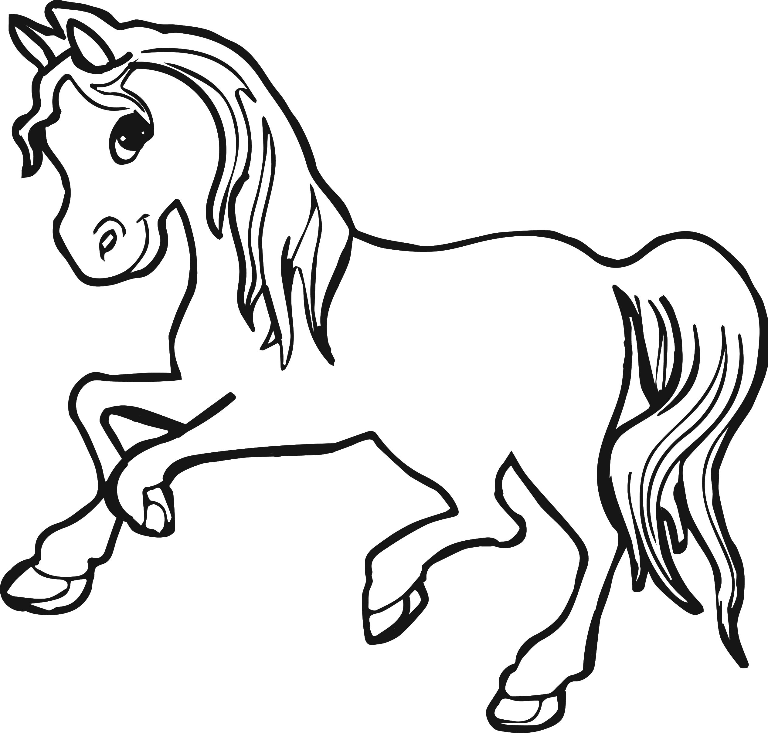 horse coloring picture free horse coloring pages coloring horse picture