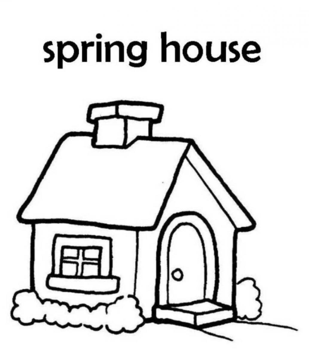 house coloring free printable house coloring pages for kids coloring house