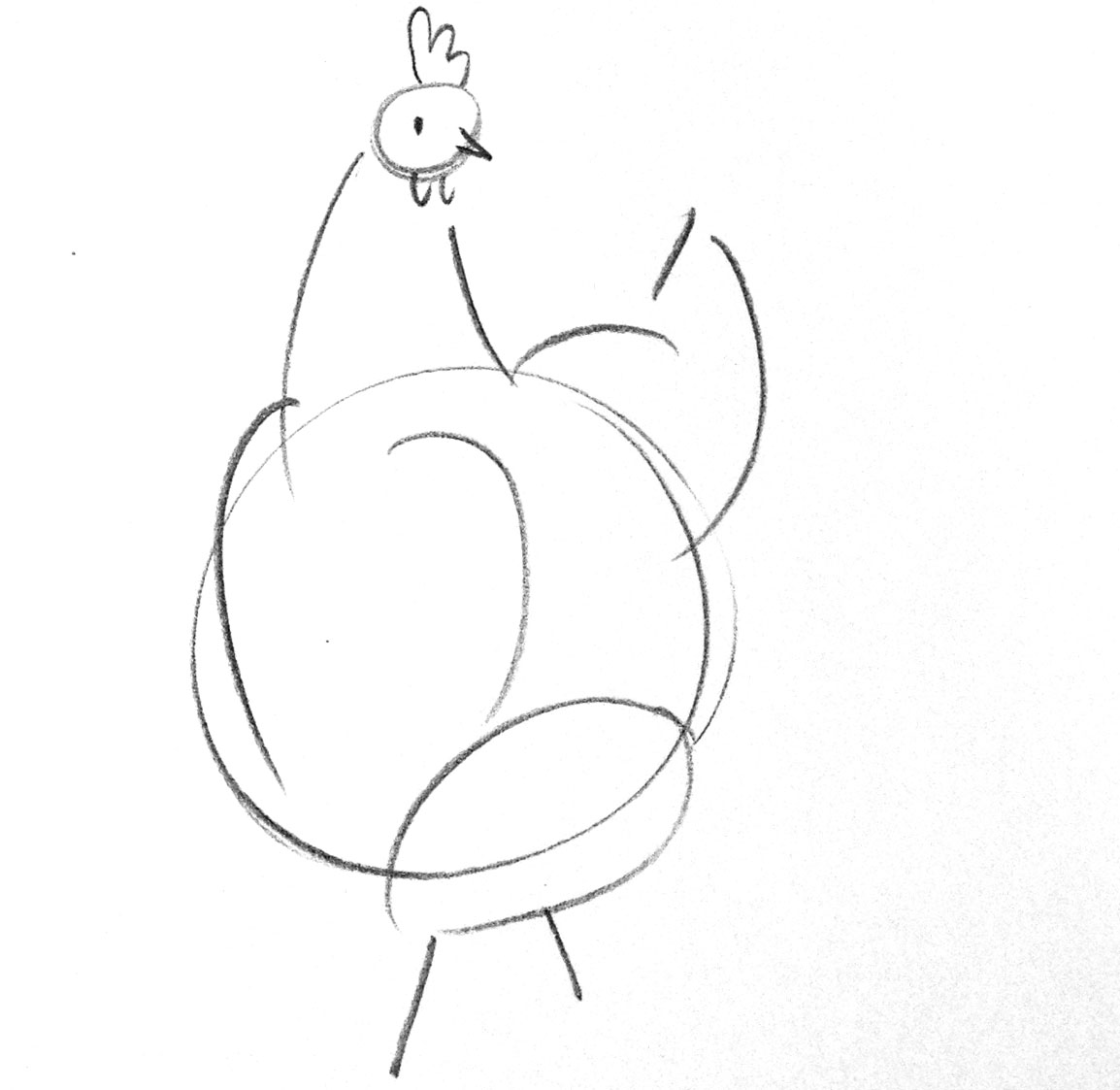 how to draw a chicken drawing chicken draw chicken to how a